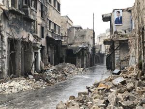 Ødeleggelsene i Aleppo har etterlatt spor som vil være synlige i generasjoner. Foto: Val Morgan/SCIAF