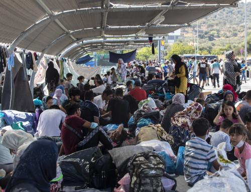 Humanitær nød på Lesvos etter branner i Moria-leiren