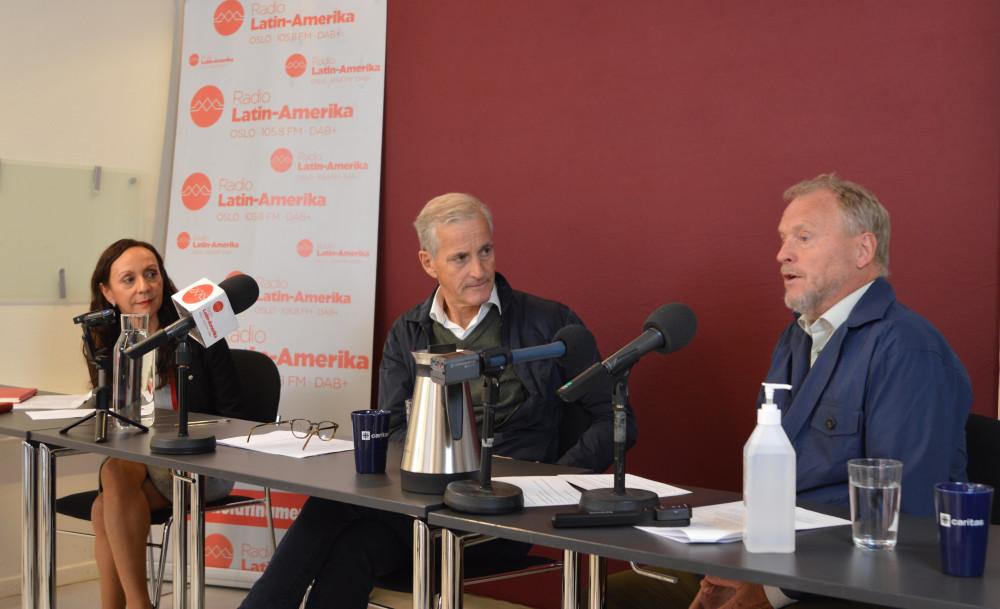 Pressetreff med Jonas Gahr Støre og Raymond Johansen