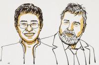 Illustrasjon av Maria Ressa og Dmitrij Muratov